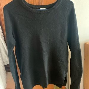 Halogen Cashmere Sweater in Black